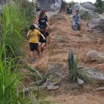 Hiking in Broga Hills with coursemates