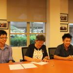 Jun Chow & Nicholas signing