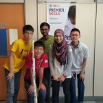 Kah Meng and his team in the Premier League Enterprise Challenge