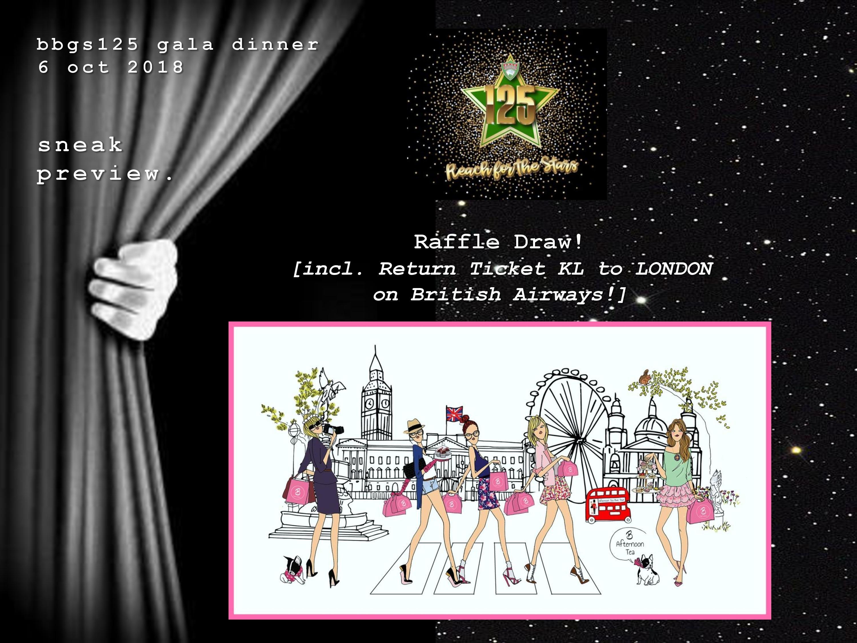 BBGS125 Gala Dinner – Raffle Draw!