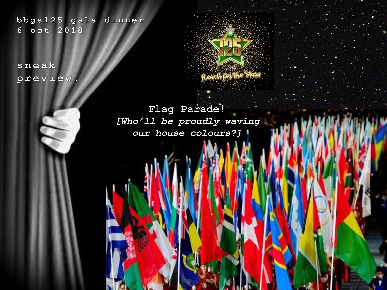 BBGS125 Gala Dinner-Flag Parade!