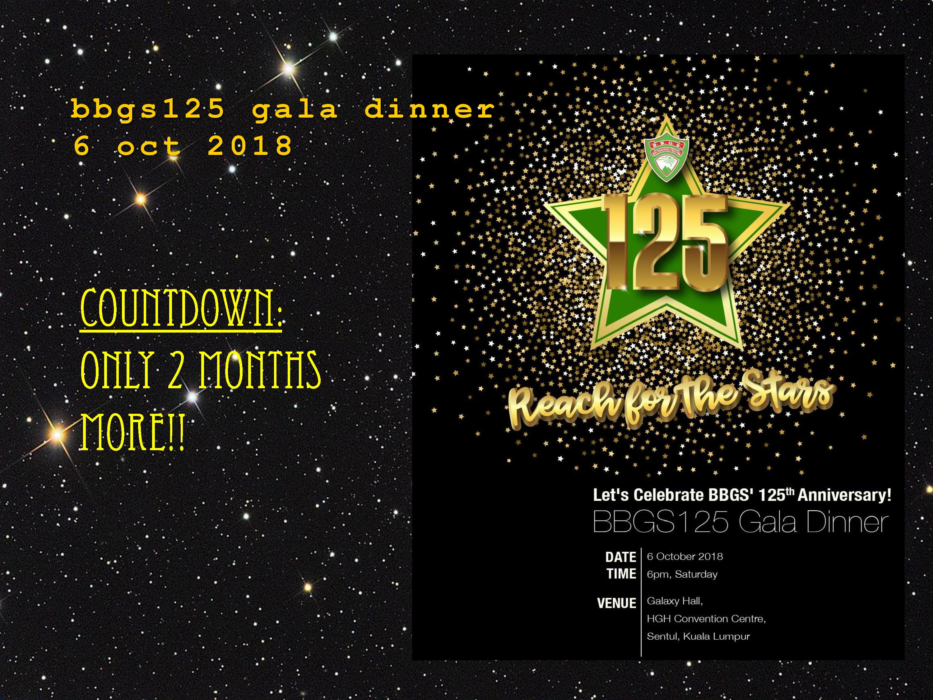 BBGS125 Gala Dinner-Countdown only 2 months more!